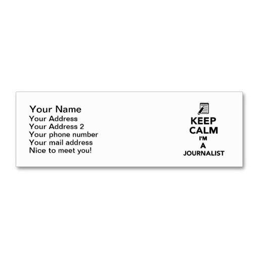 Keep calm im a journalist mini business card business cards card keep calm im a journalist business card templates cheaphphosting