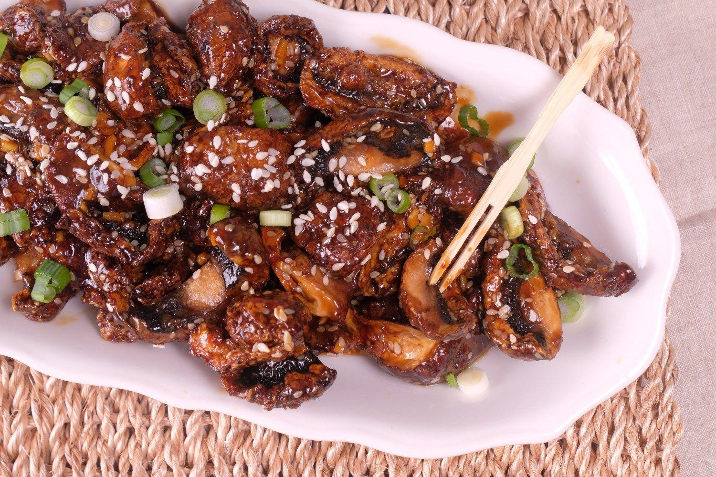 Air Fryer Sesame Shiitake Mushrooms Meatless Makeovers