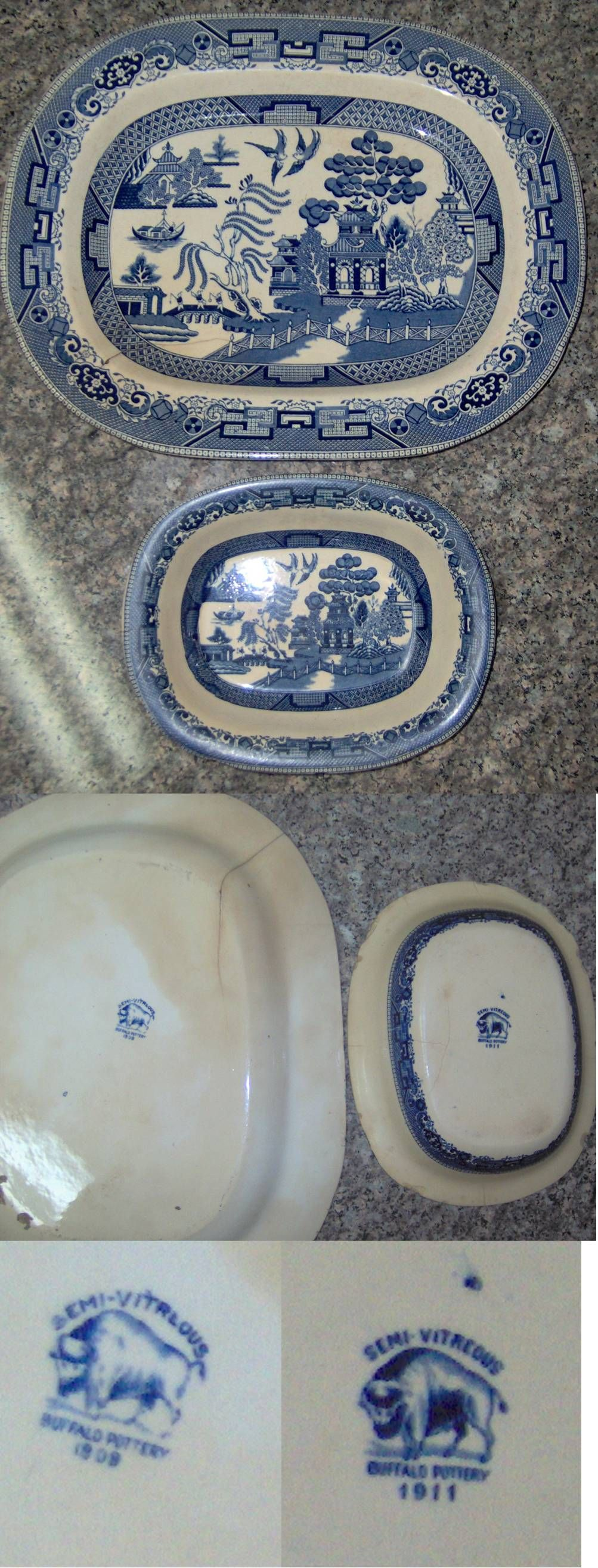 I inherited these 2 pieces of Buffalo Pottery from my great grandmother many years ago. They are kept in a safe place!