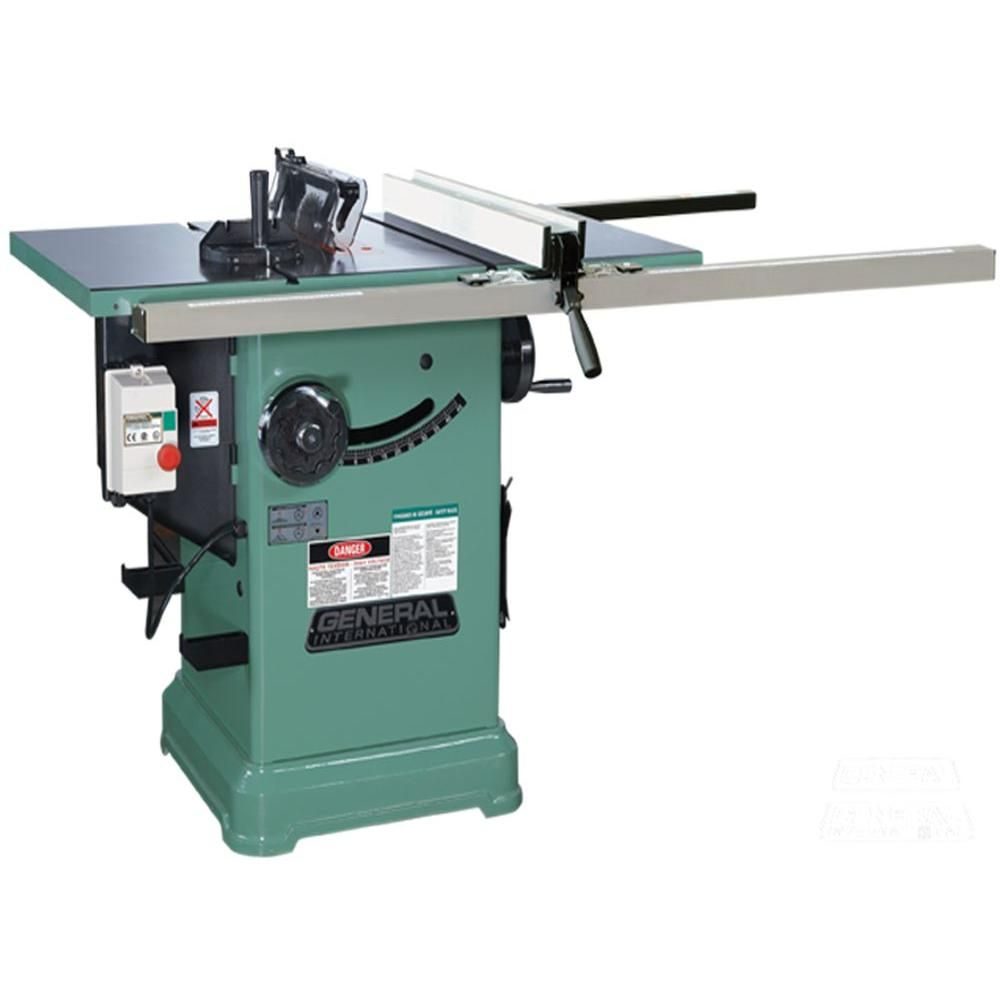 General International 10 in. 3 HP Cabinet Saw