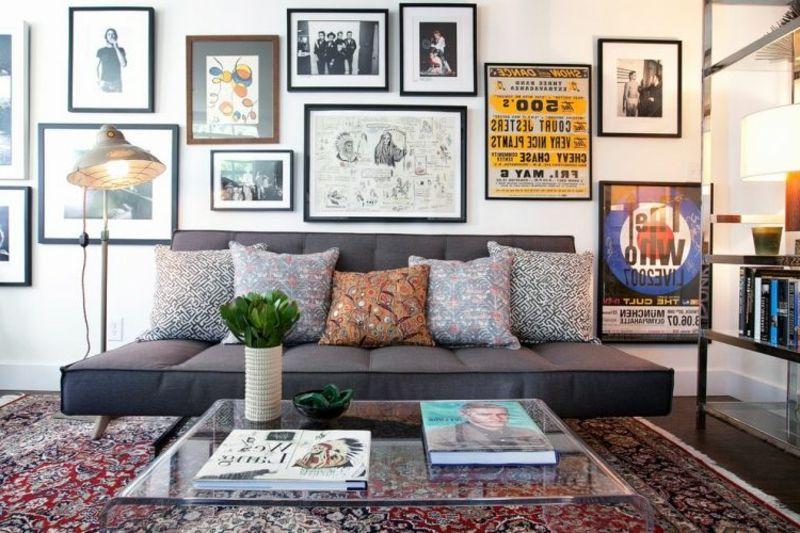 Wohnzimmereinrichtung beispiele ~ Orientteppich als akzent im interieur u beispiele bunte