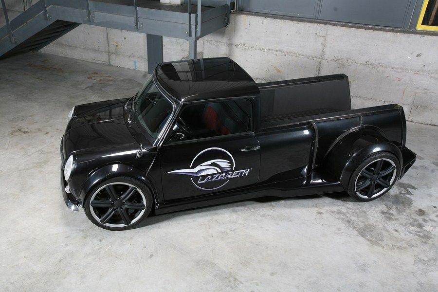 custom mini cooper pickup w land rover v8 by lazareth. Black Bedroom Furniture Sets. Home Design Ideas