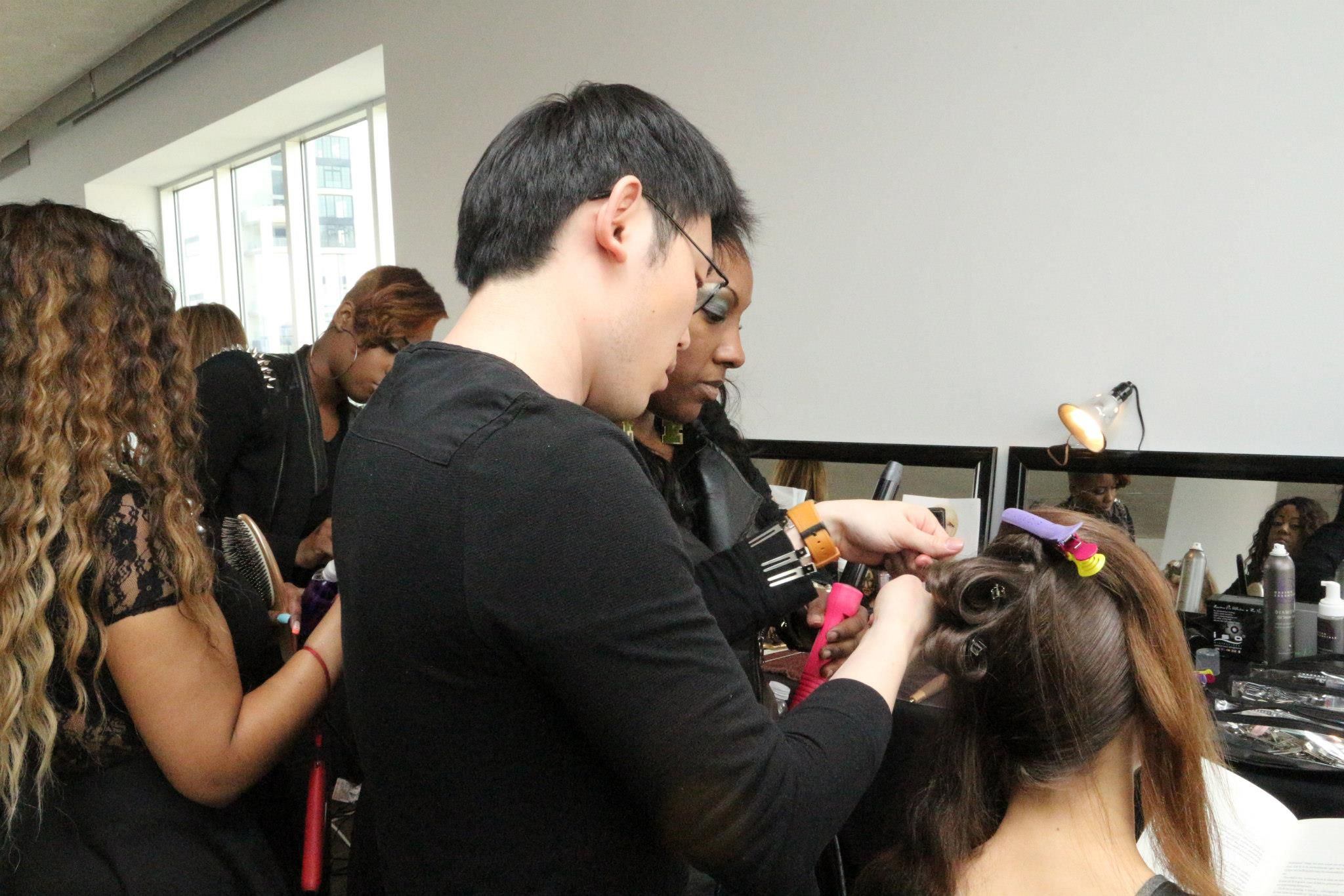 Lead stylist Michelle Swiney created the hair looks for