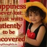 quotes happiness is never lost pretty girl
