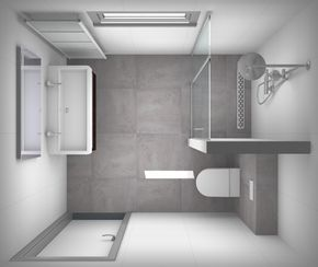 Kleine badkamer met inloopdouche | badkamer | Pinterest | Badezimmer ...