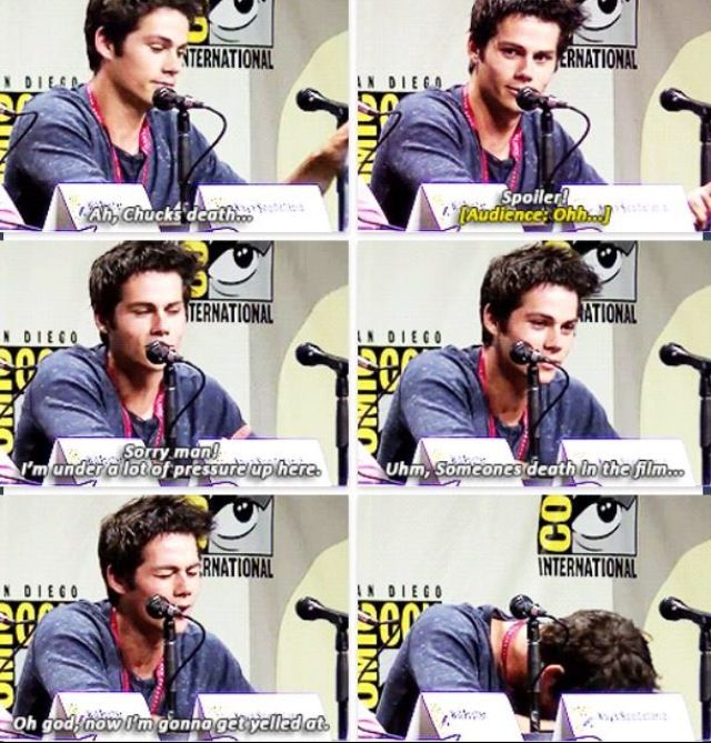 Sofie and Anne spoiled it less than 5 minutes ago anyways, i still cried. I clicked cuz it was dylan o'bae