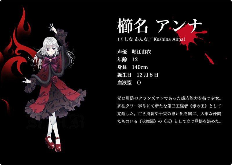 K anime season 2 titled k return of kings visual cast