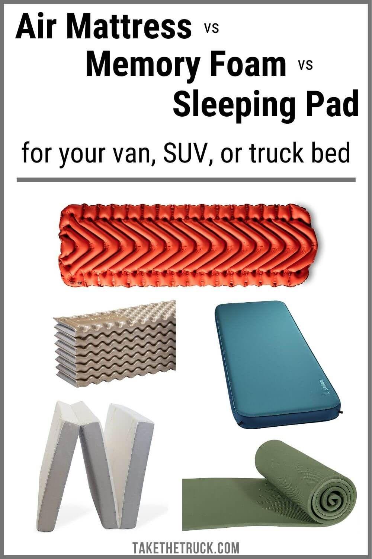 Choosing the Best SUV or Truck Bed Mattress [Memory Foam