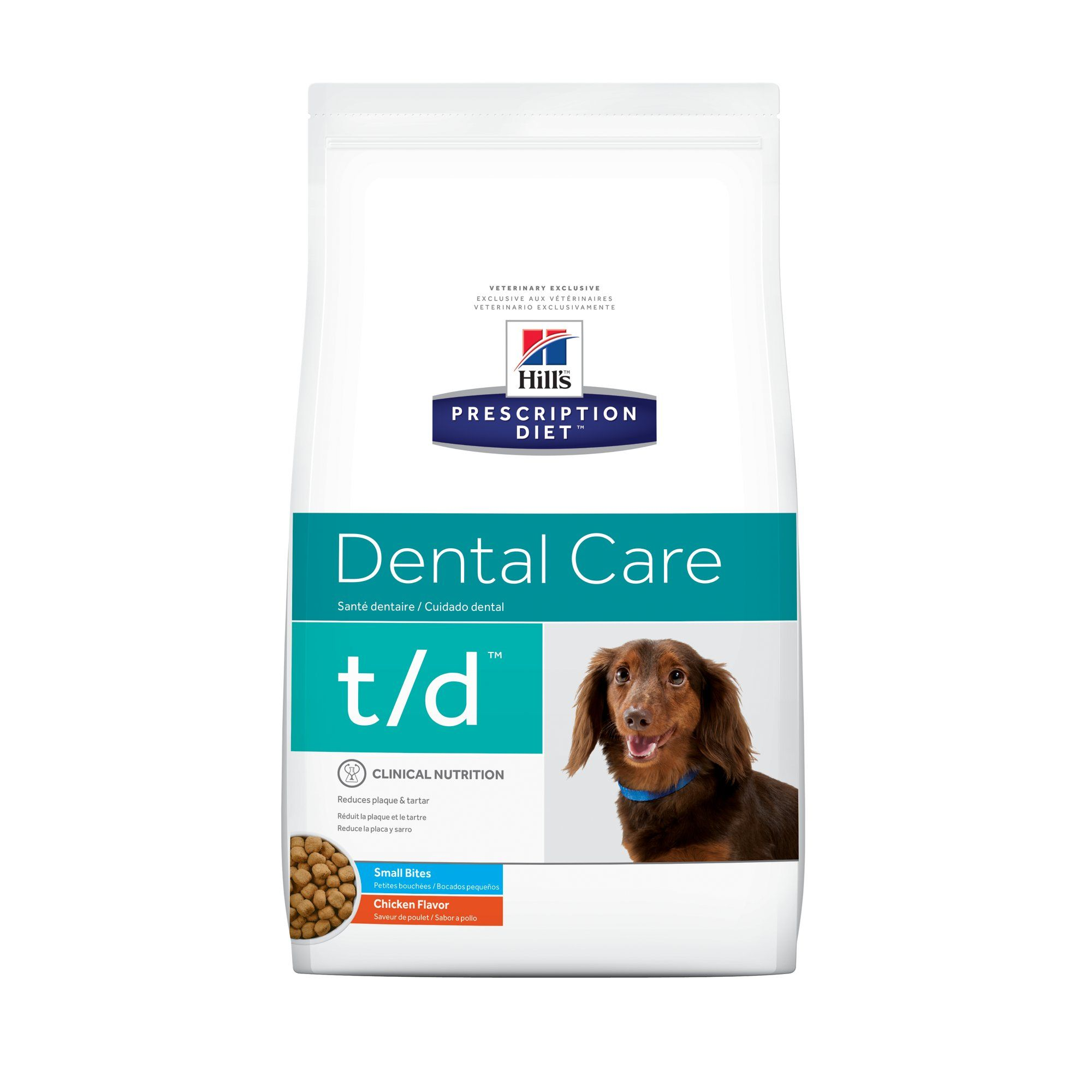 Hill S Prescription Diet T D Dental Care Small Bites Chicken Flavor Dry Dog Food 5 Lbs Bag Dry Dog Food Animal Nutrition Dental Care