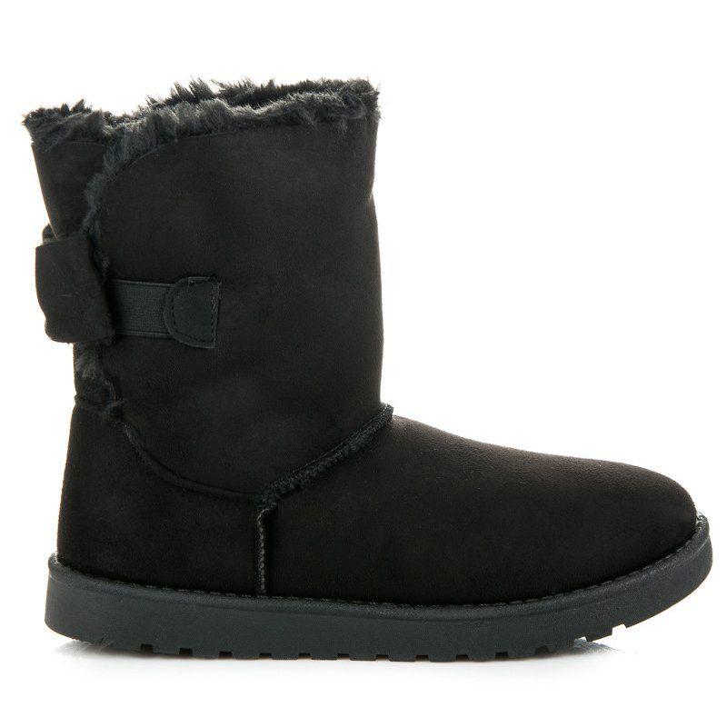 Zamszowe Mukluki Z Kokarda Czarne Boots Ugg Boots Uggs