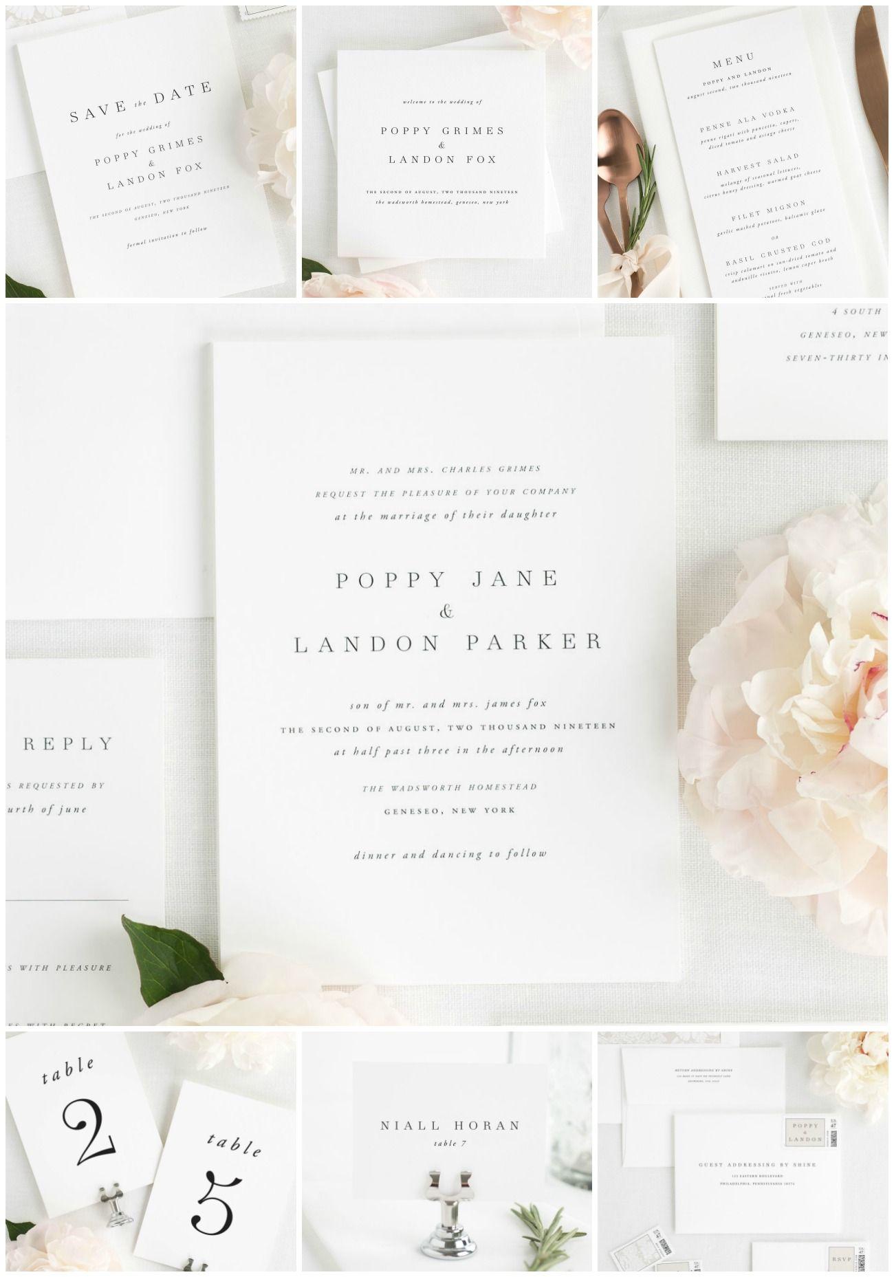 Complete Stationery Suites! | Shine wedding invitations, Wedding ...