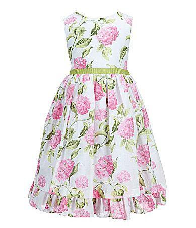 5681a30971 Laura Ashley London 2T6X Hydrangea Floral Print Dress  Dillards ...