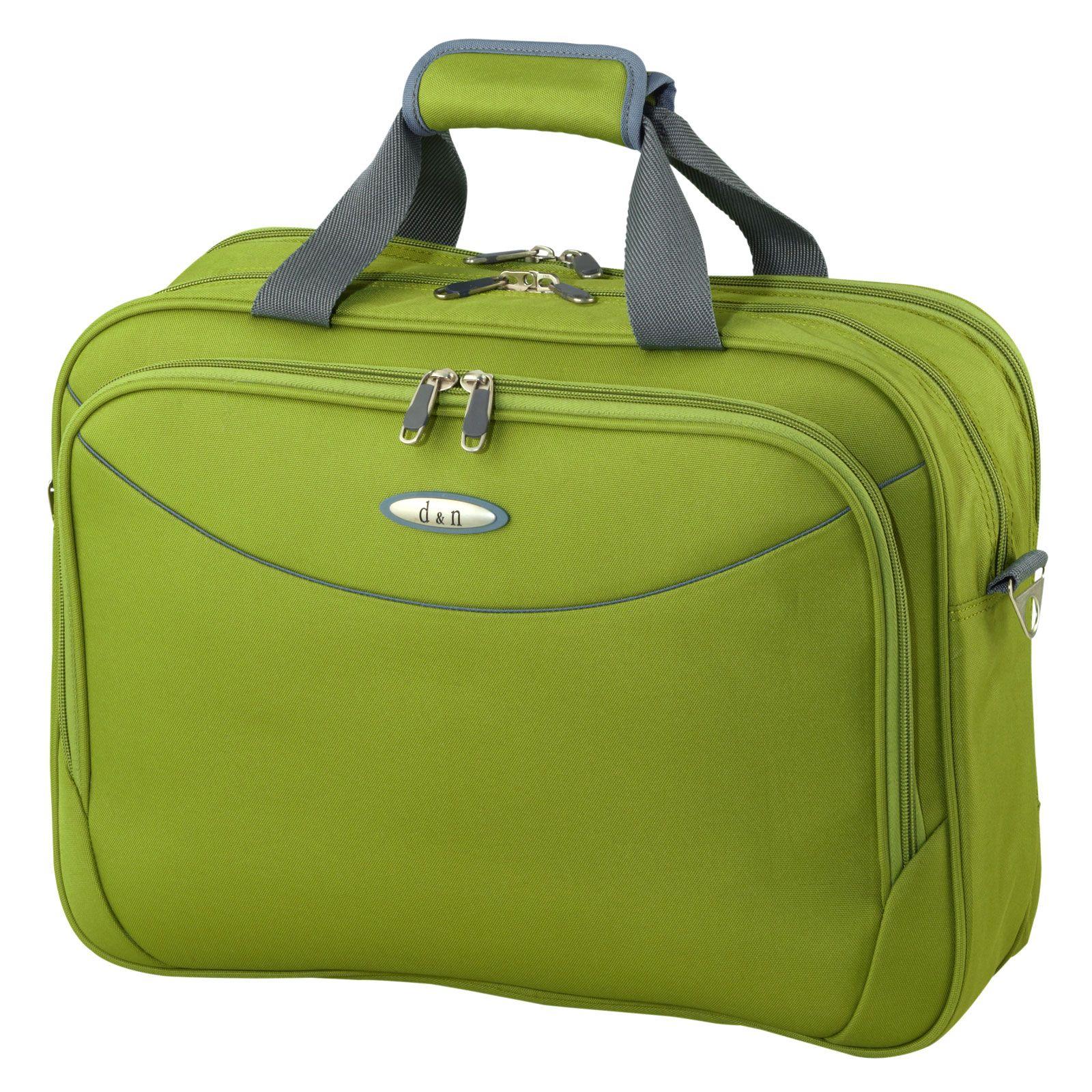 #Bordtasche d&n Travel Line 7404 bei Koffermarkt: ✓Polyester ✓auf Trolley aufsteckbar ✓Farbe: grün ⇒Jetzt kaufen