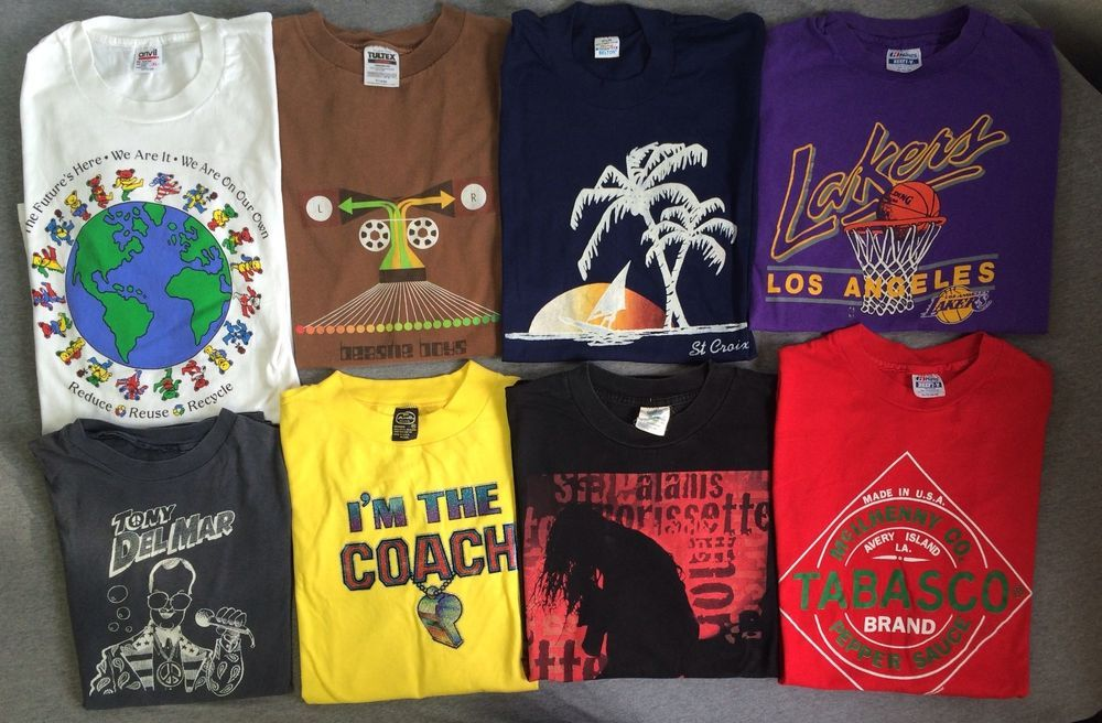 e790f9e1 Huge LOT of 82 VINTAGE T Shirts 80s 90s USA Cotton 50/50 All Sizes  Wholesale #2 #Variety #GraphicTee
