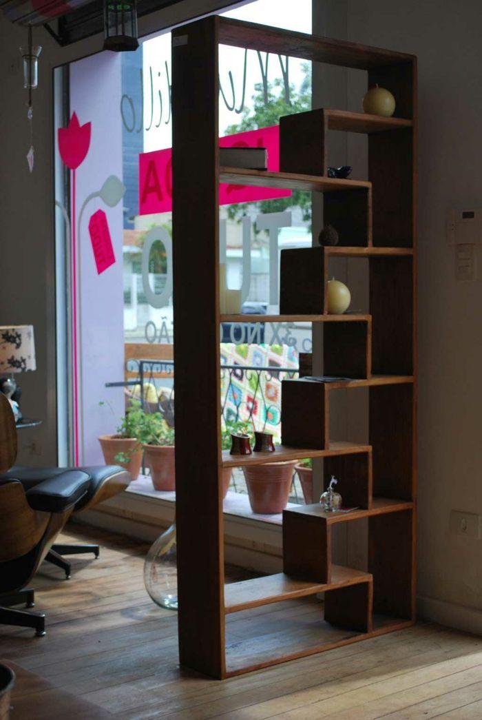 Wohnideen Raumtrennung raumtrenner ideen raumteiler vorhang raumteiler regal weisse deko
