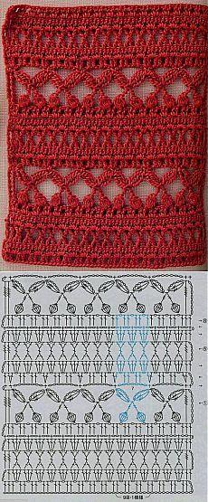 Crochet stitch with chart