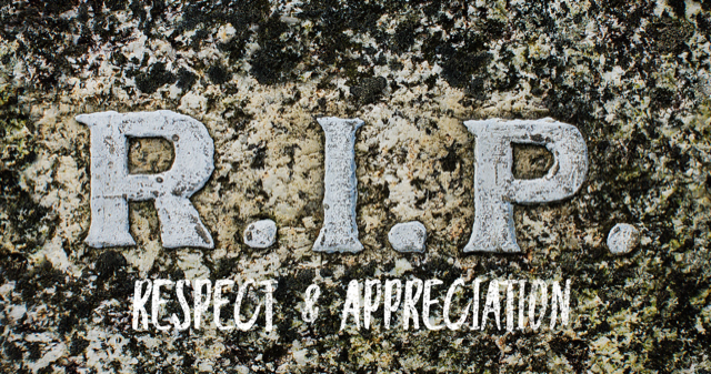 Provider respect and appreciation R.I.P? Working dead