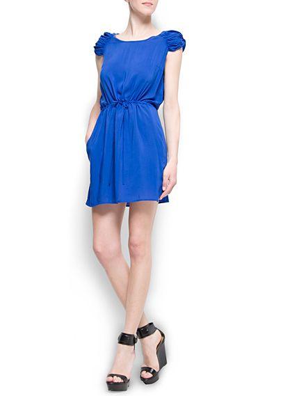 Draped sleeves dress