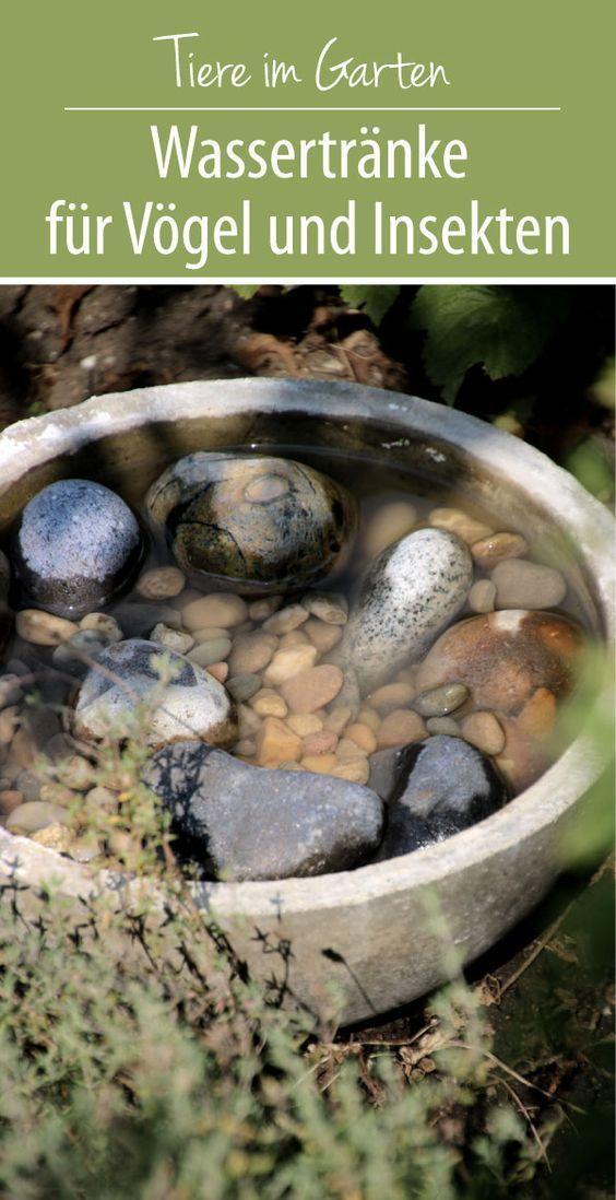 Wasser für Vögel und Insekten | DIY Insektentränke - grüneliebe