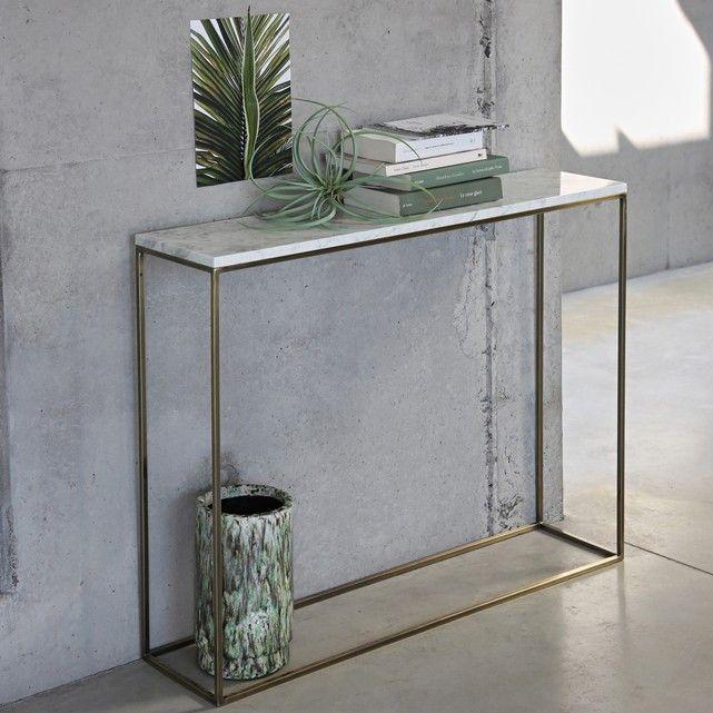 Anrichte mahaut mit marmorplatte altmessing optik for Carrara marmor tisch