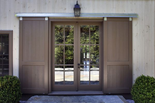 The Front Door Of A Yankee Barn Home On Sherrill Road In