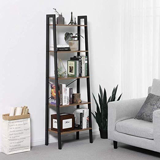 amazon vasagle vintage ladder 4tier bookshelf