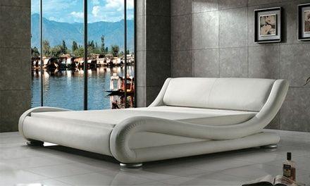 Il letto matrimoniale dal design italiano è ideale per dare un