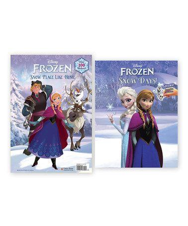 Frozen Sticker Coloring Book Set Zulily Zulilyfinds