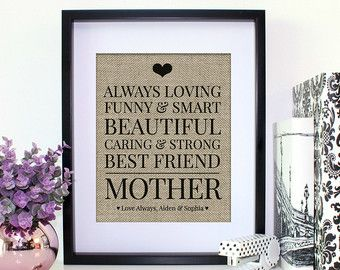 Personalized Gift For Mom Birthday From By EmmaAndTheBean