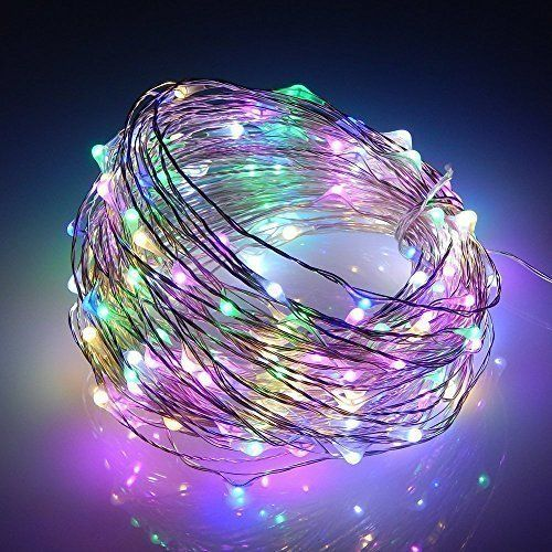 Photo of Indoor and Outdoor Battery Operated 10M 100 LED Copper Wire Fairy String Lights Waterproof Starry String Lights for Christmas Tree, Party, Wedding, Garden, Festival, DIY Decoration(Colorful)
