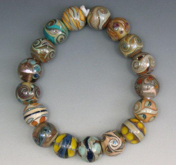 17 Handmade lampwork dichroic & silvered glass by SJCLampworkBeads