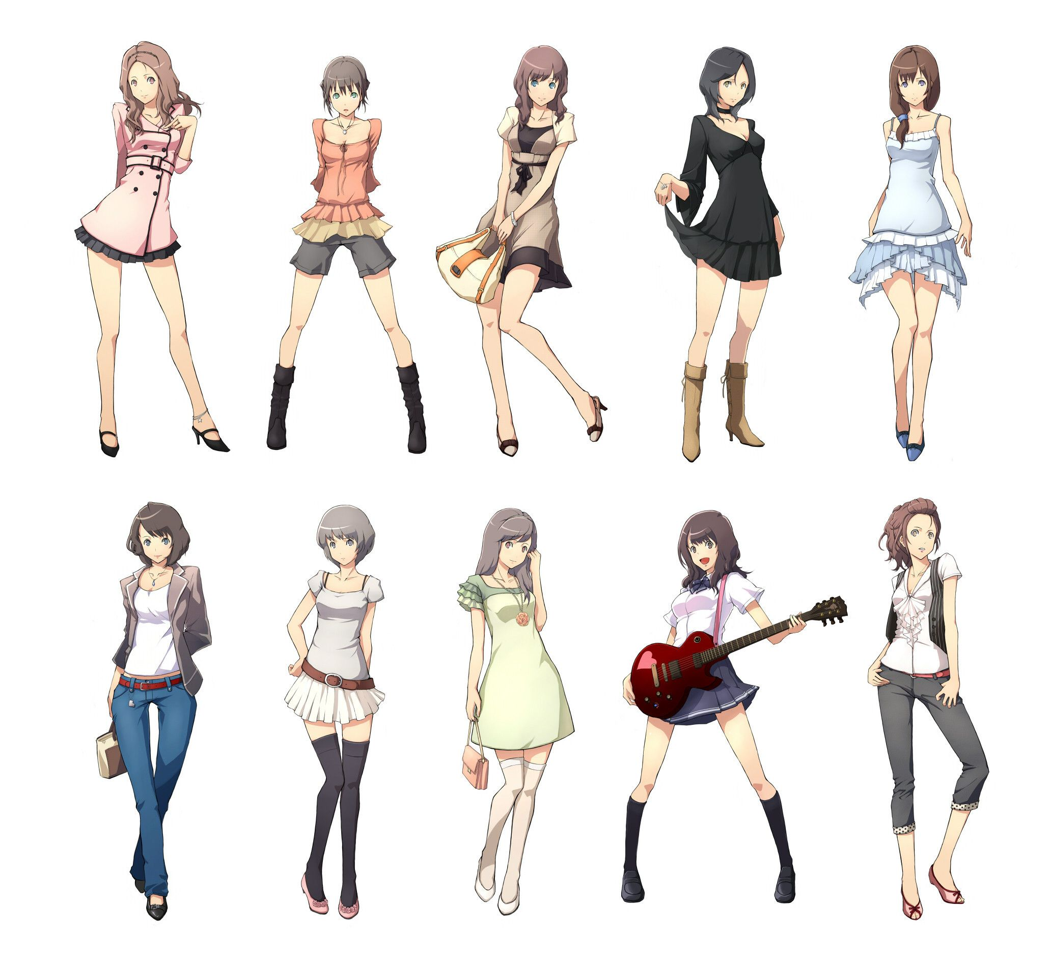 Ooh Different Poses And Styles Of Anime I Think I Might Keep This To Help Me Draw Anime