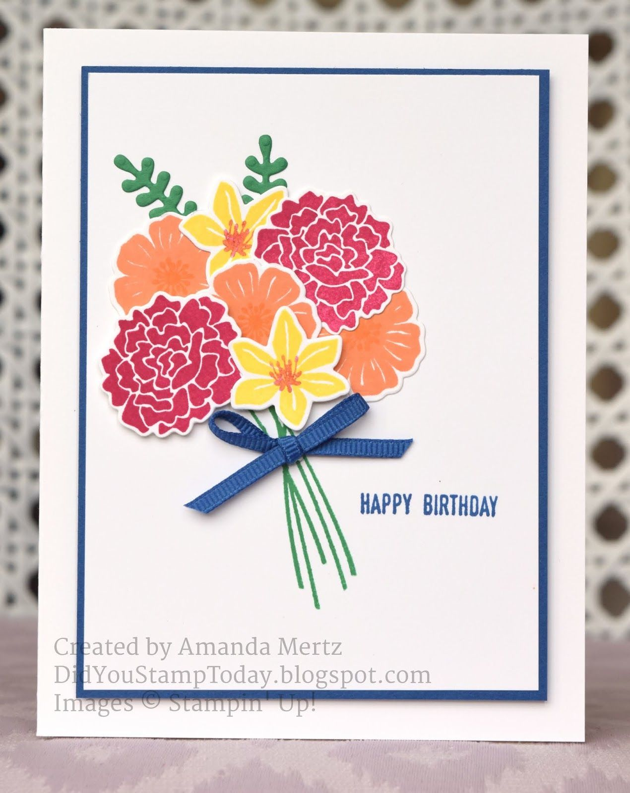 In color bouquet stampinu up beautiful bouquet did you stamp