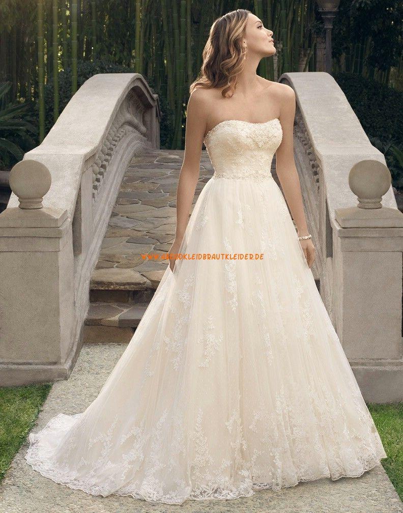 Casablanca A-linie Glamouröse Schöne Brautkleider aus Softnetz mit ...
