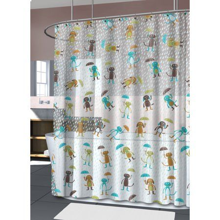 Splash Home High Quality Peva 4G Cats Dogs Shower Curtain Liner Design