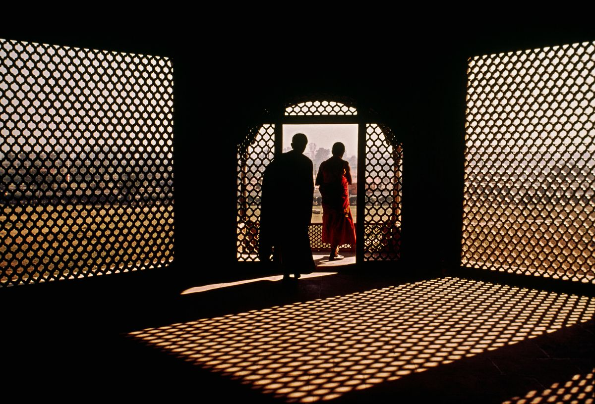 Two Monks at Red Fort, New Delhi, India, 1979 by Steve McCurry