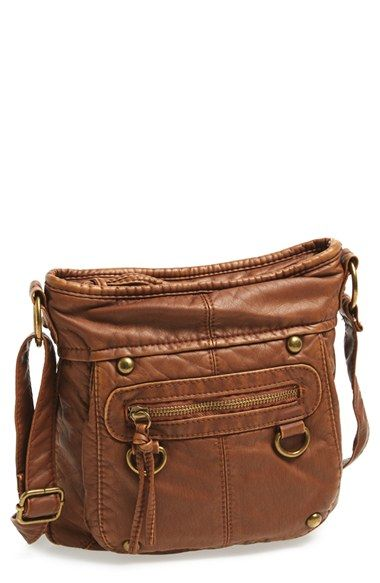 e37c926f8e5c Washed Mini Crossbody Bag (Juniors) at Nordstrom.com. A soft faux-leather crossbody  bag shines with hardware details. The small size is perfect for toting ...