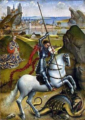 Rogier van der Weyden, Saint George and the Dragon