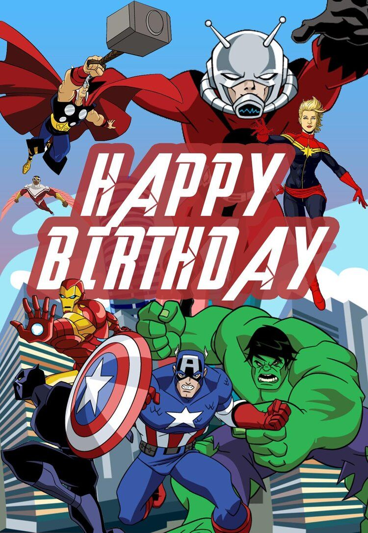 Avengers Printable Birthday Card Jpg Birthday Card Printable Birthday Card Template Free Printable Birthday Cards