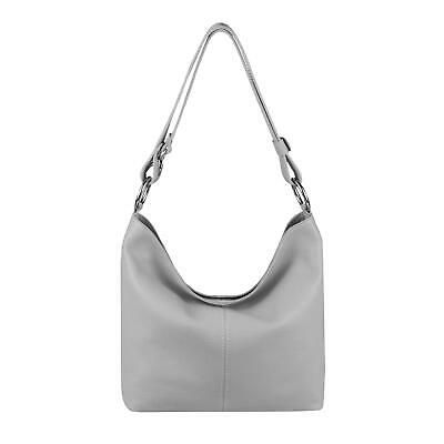 Photo of ITALY DAMEN LEDER TASCHE Shopper Hobo-Bag Schultertasche Handtasche Crossover: E…