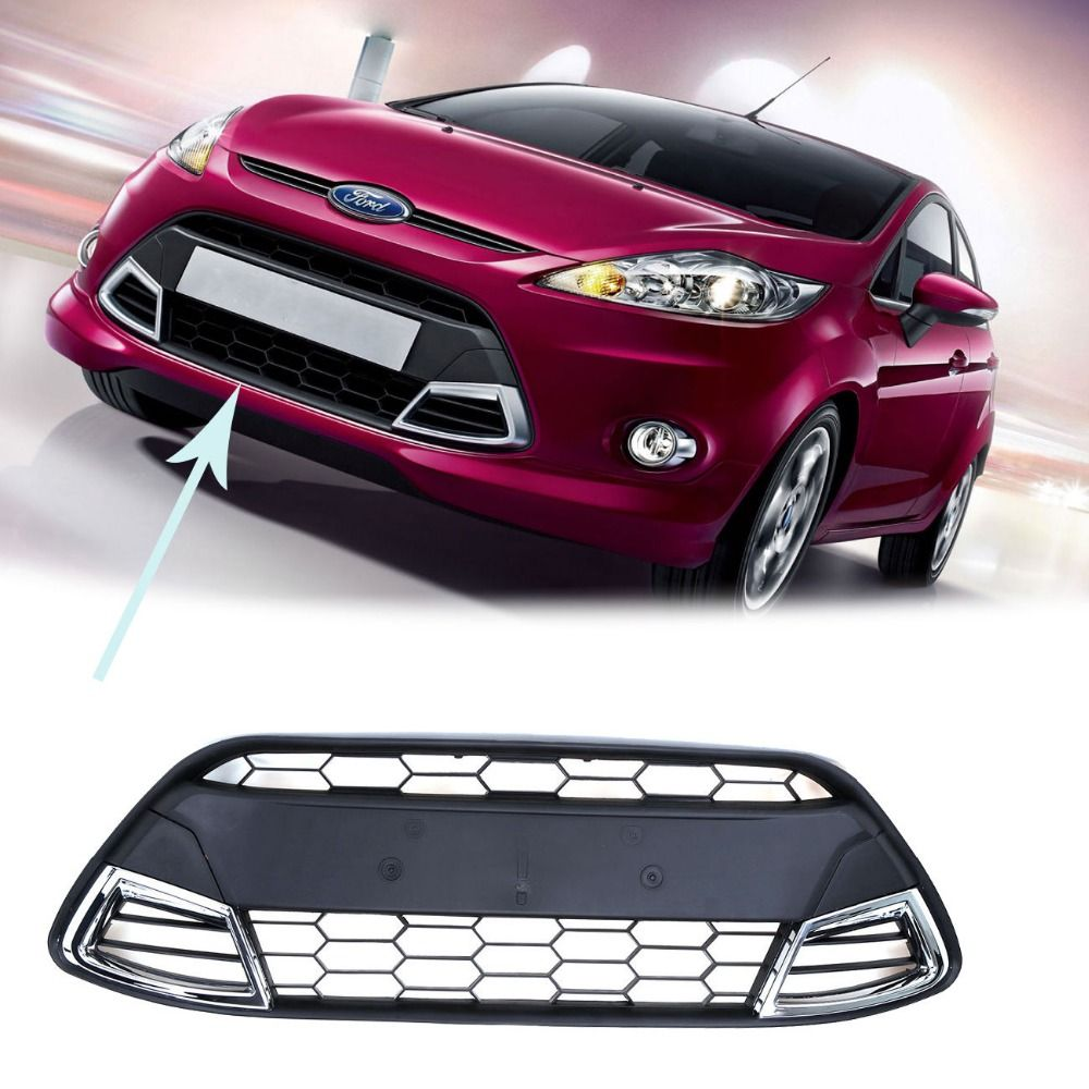 Shipping From De Front Bumper Grill Grille Center Trim Cover For Ford Fiesta Mk7 Sedan 2008 2011 Sedan Ford Fiesta Bumpers