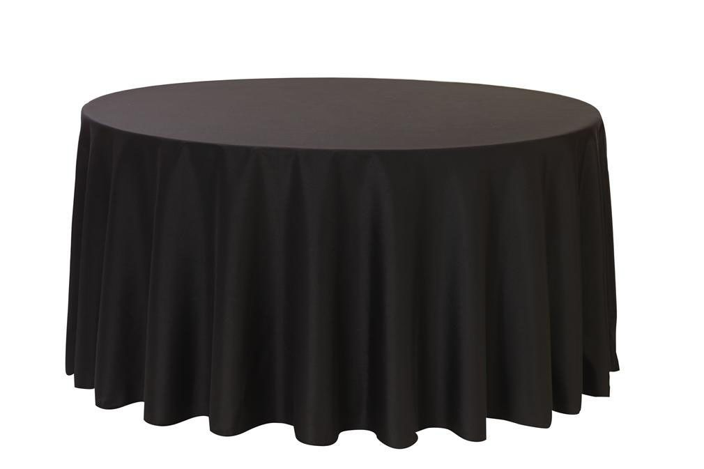 108 Inch Polyester Round Tablecloth Black Black Tablecloth Table Cloth Black Round Tablecloth