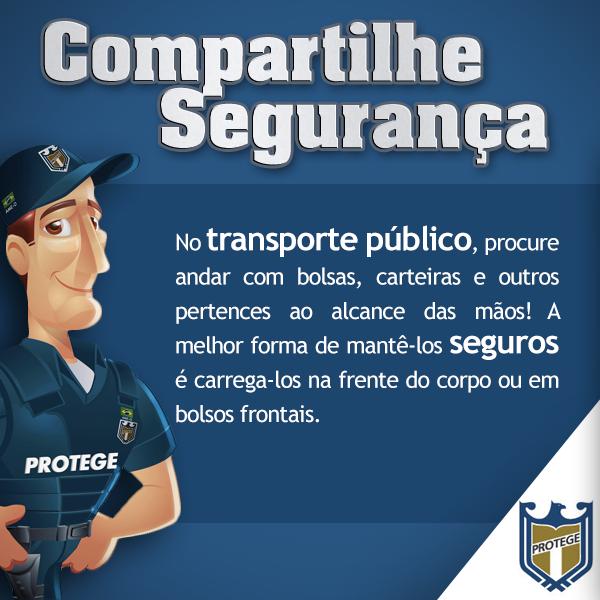 No transporte público ..