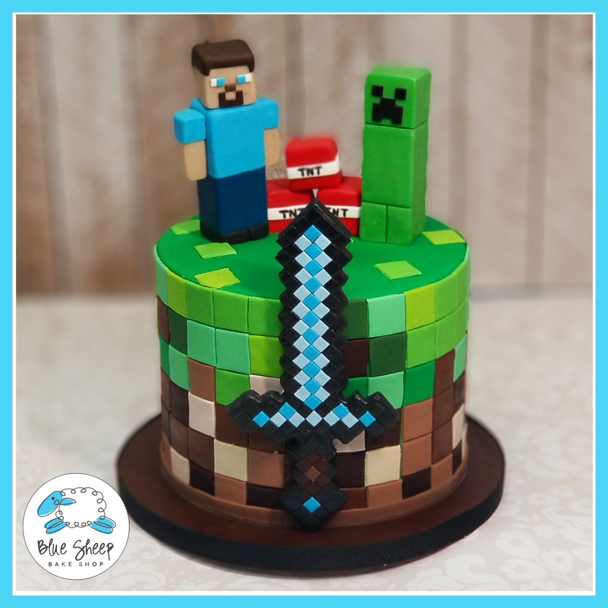 Minecraft Birthday Cake Minecraft Birthday Cake Easy Minecraft