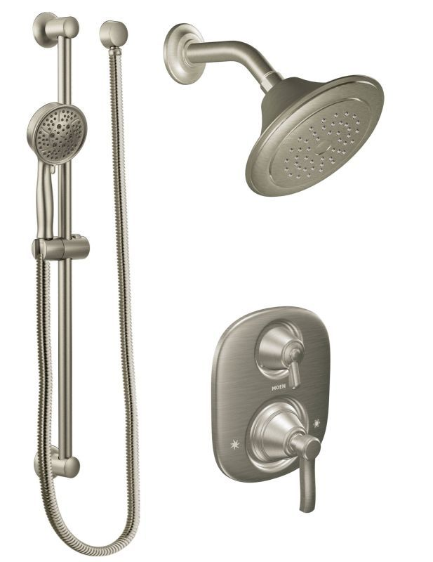 Moen 603SBN | Shower systems, Brushed nickel faucet and Custom shower