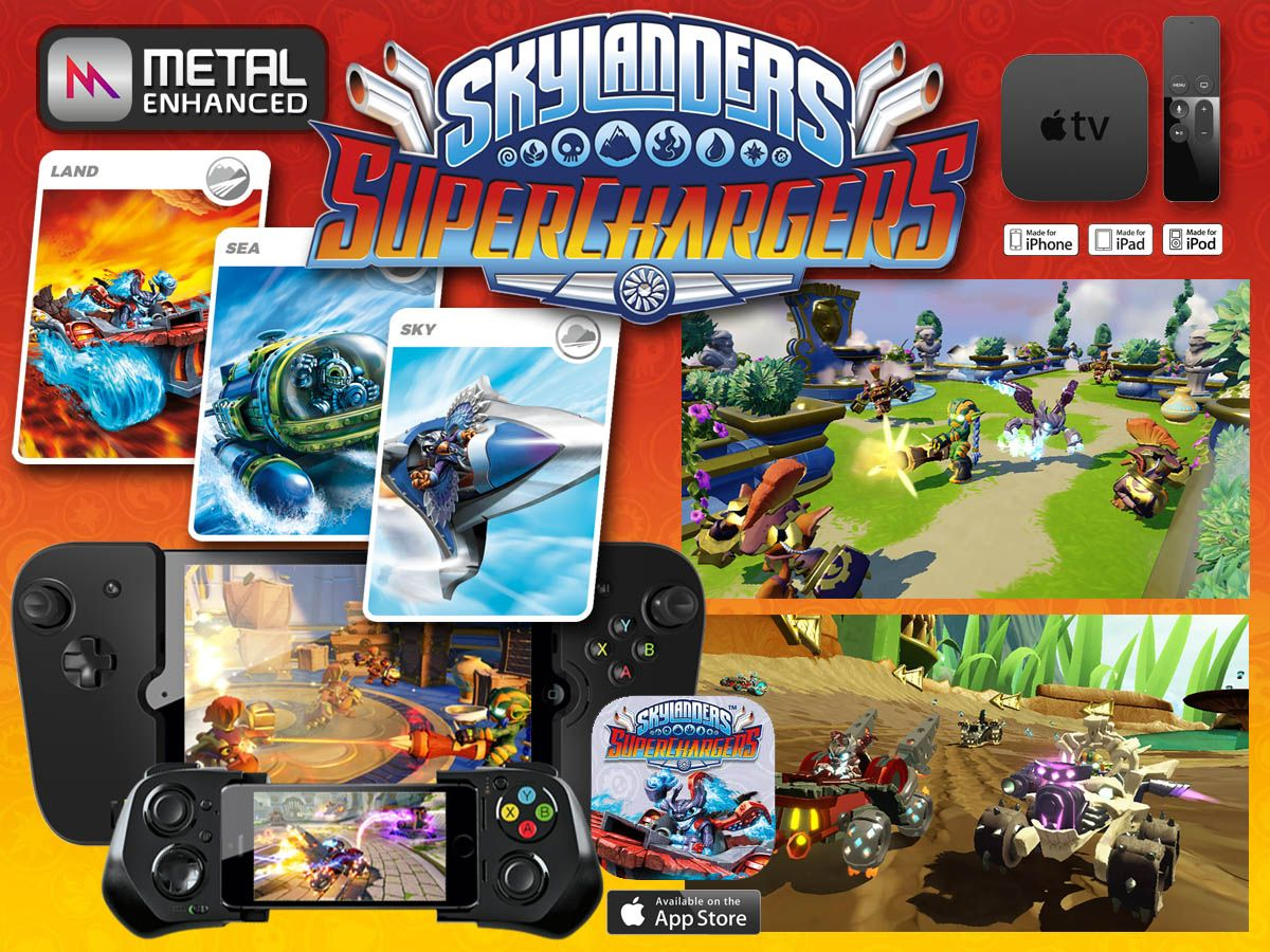 SkyLanders Superchargers available universal App for iOS