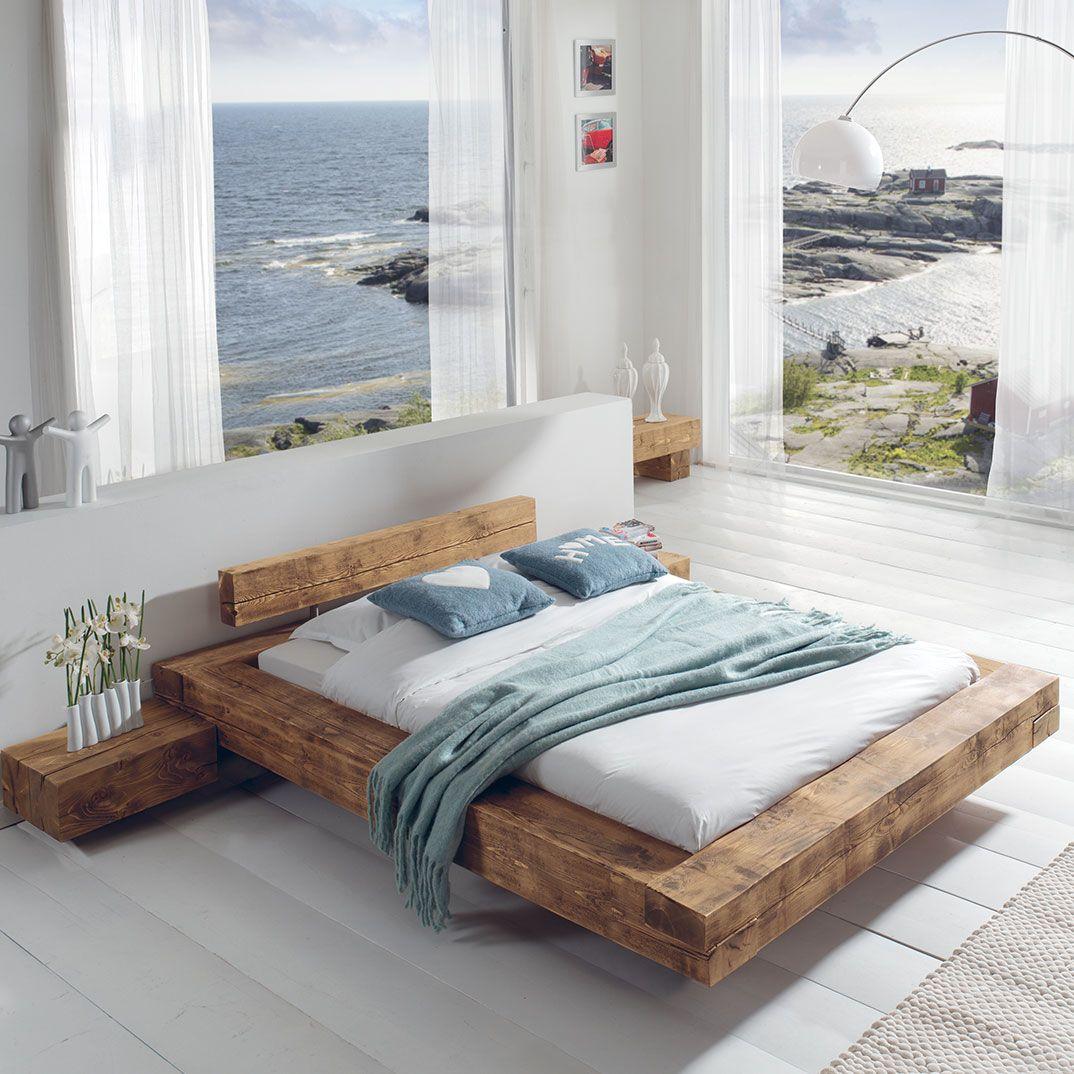 Lit Poutre Idees De Lit Lit Bois Massif Meuble Chambre