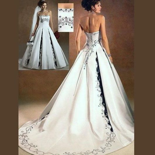 Wish There Was Straps Plus Size Wedding Gowns With Color