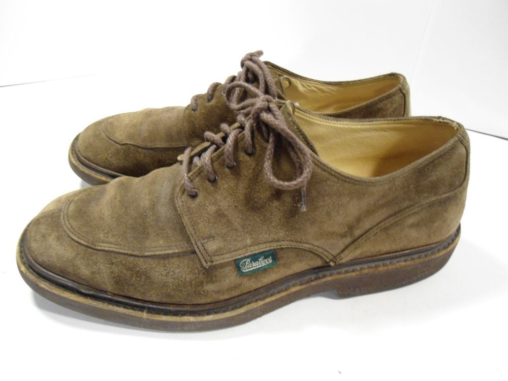 23b0e242a0a VINTAGE Men s Paraboot Oxford Comfort Shoes Brown Suede MADE IN FRANCE 11 D  COOL  Paraboot  Oxfords