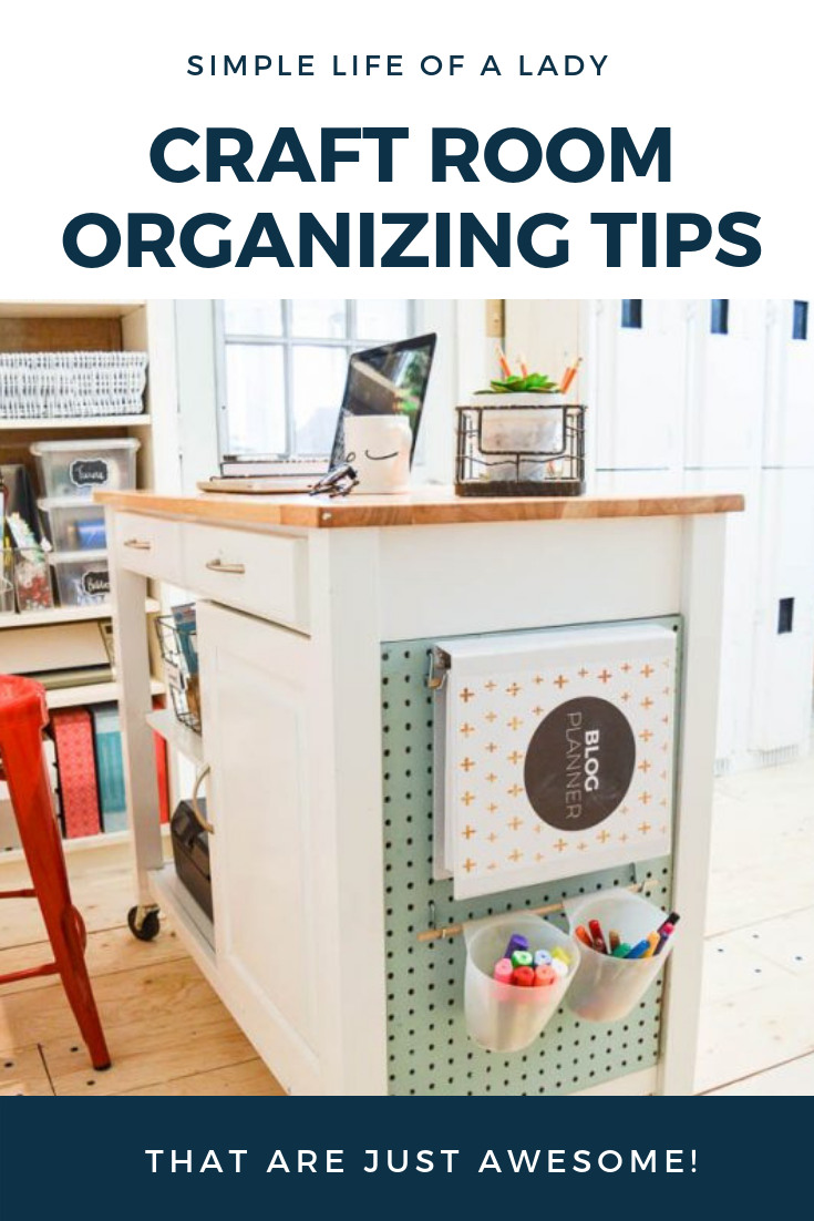 20 Creative Ideas To Organize Your Craft Room Simple Life Of A Lady Craft Room Craft Room Organization Organize Craft Supplies